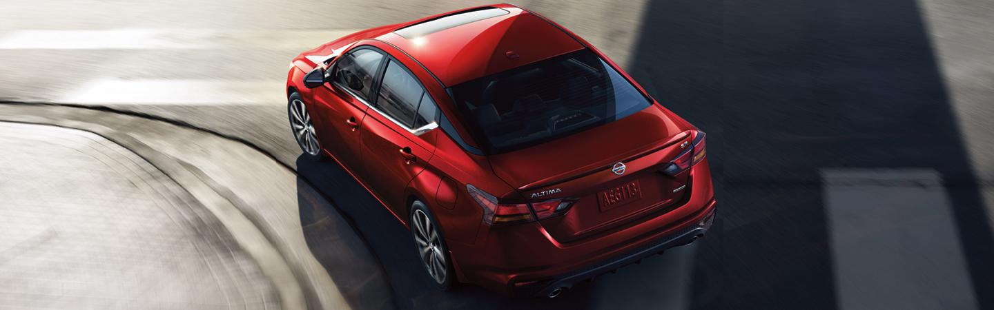 Top view of the 2020 Nissan Altima at Wesley Chapel Nissan
