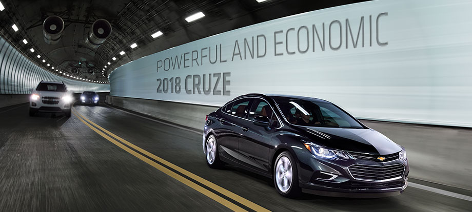 Exterior of the 2018 Chevrolet Cruze at McClinton Chevrolet near Marietta, OH