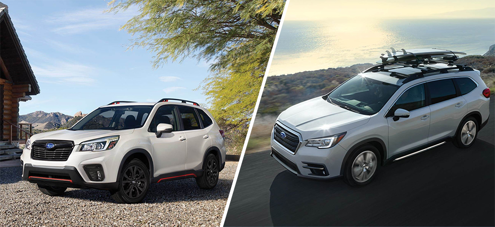 The 2019 Subaru Forester and 2019 Subaru Ascent is available at our Subaru dealership in Columbus, GA.