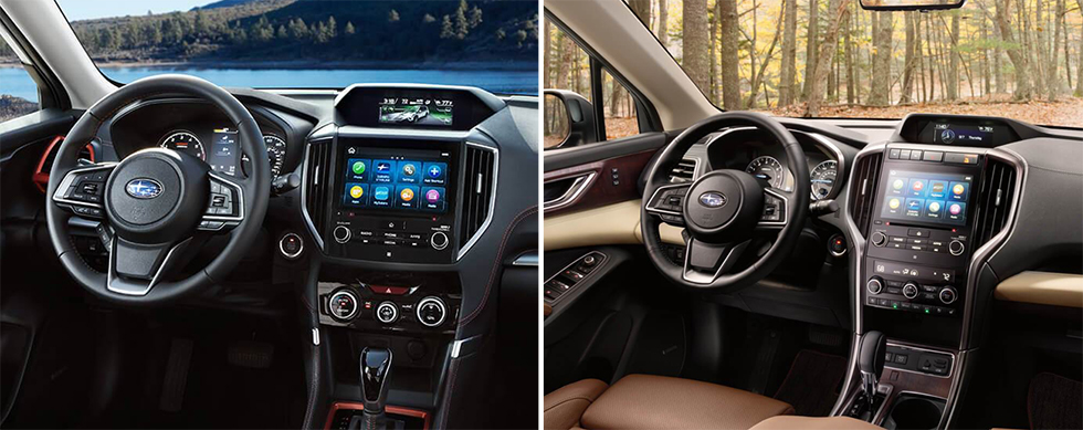 Safety features and interior of the 2019 Subaru Forester and 2019 Subaru Ascent - available at our Subaru dealership near Columbus, GA.
