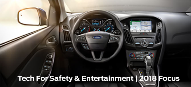 Safety features and interior of the 2018 Ford Focus - available at Ford of Port Richey near Lutz and Land O' Lakes, FL
