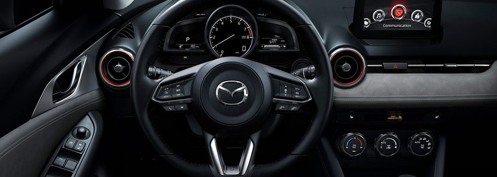 Safety features and interior of the 2019 Mazda CX-3 available at Naples Mazda near Bonita Springs and Cape Coral, FL