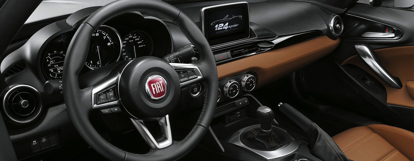 Safety features and interior of the 2019 FIAT 124 Spider - available at our FIAT dealership near Columbus, OH