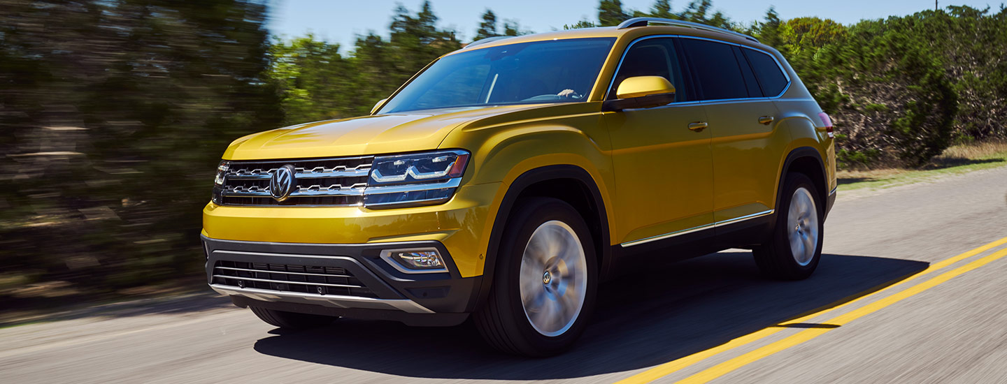 The 2019 Volkswagen Atlas is available at our Volkswagen dealership in Gainesville, FL.