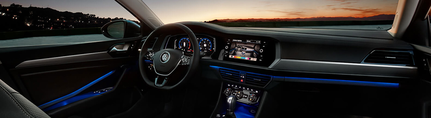 Safety features and interior of the 2019 Volkswagen Jetta - available at South Motors VW near Kendall and Cutler Bay, FL