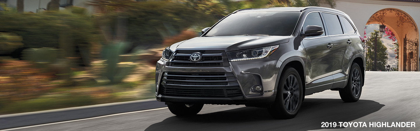 Exterior image of the 2019 Toyota Highlander