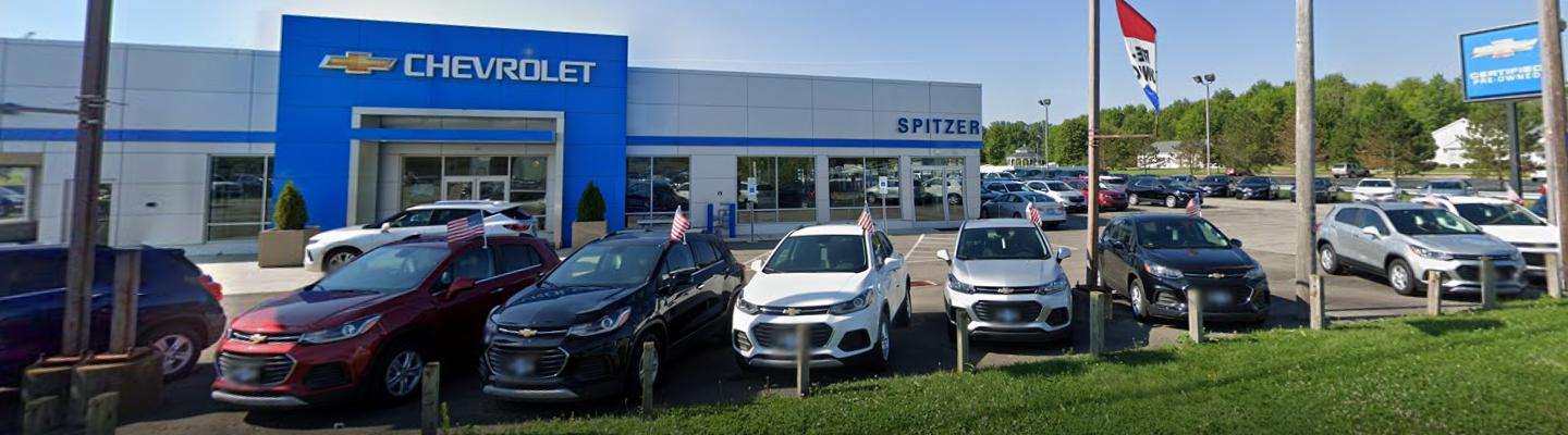 A view of the lot at Spitzer Autoworld Lordstown