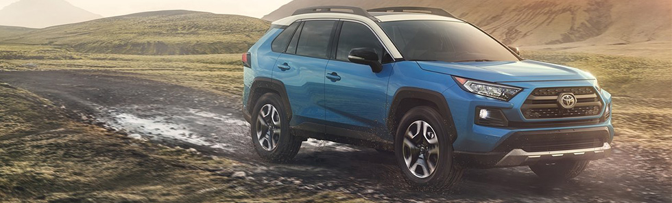 Safety features and exterior of the 2019 Toyota RAV4 at Toyota of Rock Hill =C