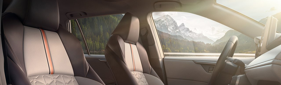 Safety features and interior of the 2018 Toyota RAV4 - available at Toyota of Rock Hill