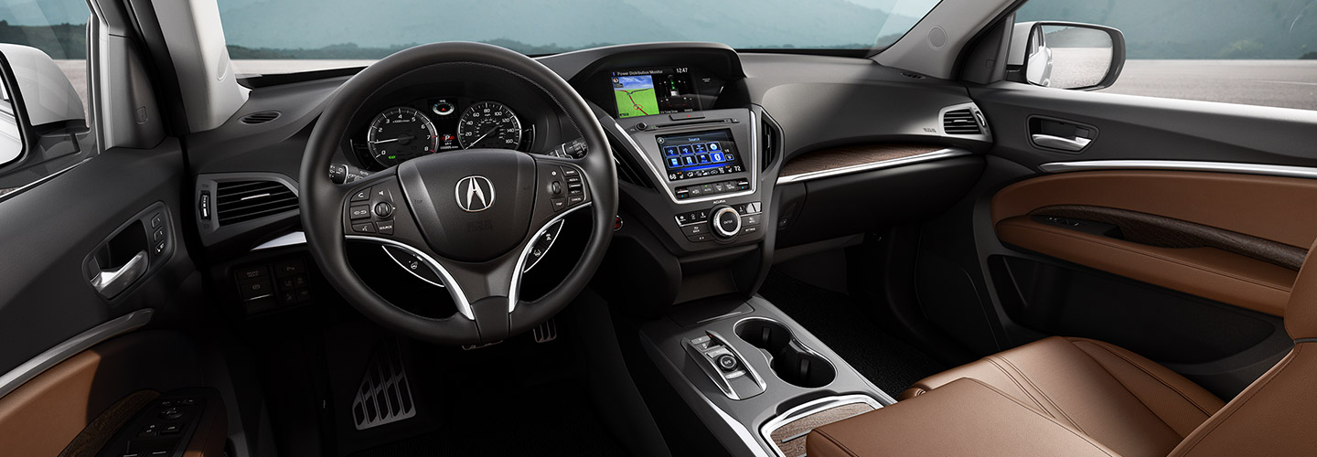 Interior image of the 2020 Acura MDX available at Spitzer Acura dealership in McMurray PA