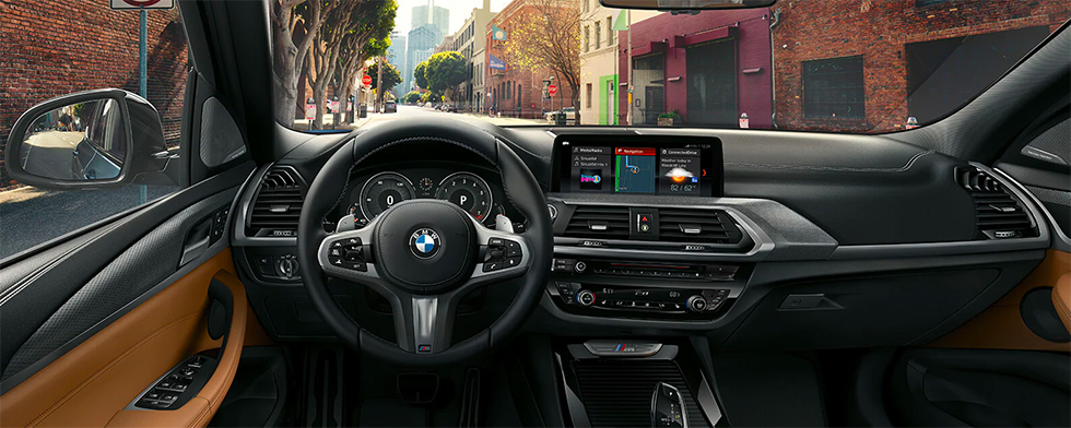 Safety features and interior of the 2019 BMW X3 - available at our BMW dealership