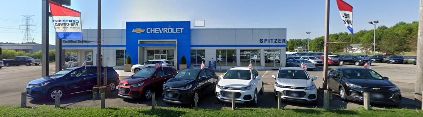 The front of the Spitzer Autoworld Lordstown dealership