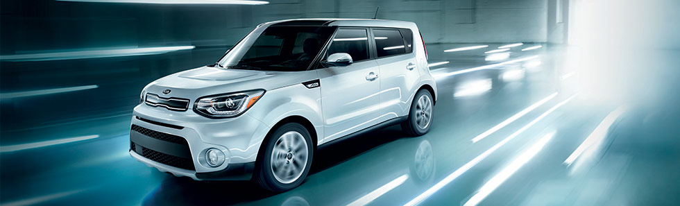 Exterior of the Kia Soul in motion, available at Bob Moore Kia in Oklahoma City, OK