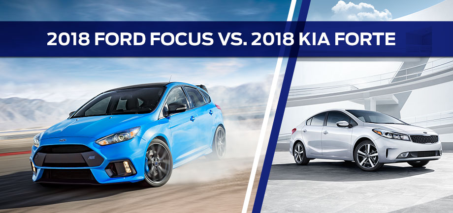 The 2018 Ford Focus vs. Kia Forte at Ford of Port Richey in Port Richey, FL