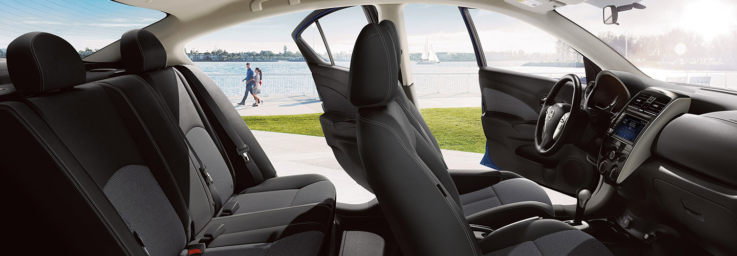 Safety features and interior of the 2019 Nissan Versa - available at our Nissan dealership near Oklahoma City, OK.