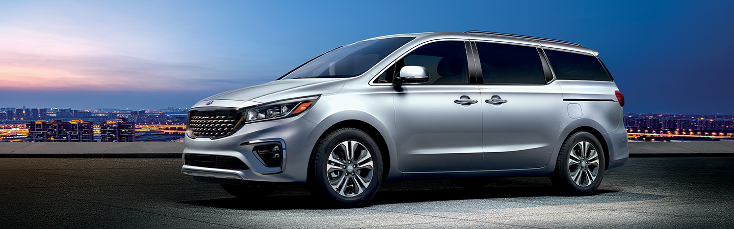 2019 Kia Sedona parked, available at our Kia dealership