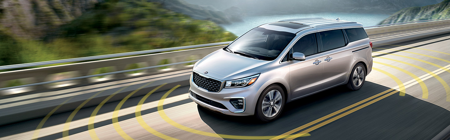 Highlighted safety features of the 2019 Kia Sedona in Oklahoma City, OK