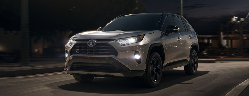 Exterior of the 2019 Toyota RAV4 available at your local Toyota Dealership in Atlanta - World Toyota