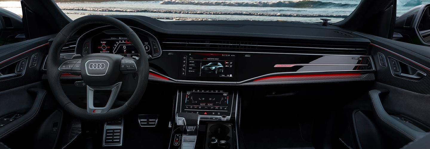 Interior view of the 2021 RS Q8