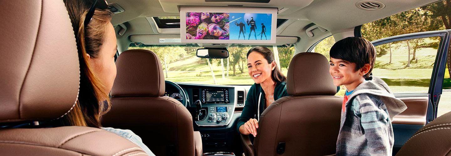 Interior of the 2020 Toyota Sienna for sale at Spitzer Toyota