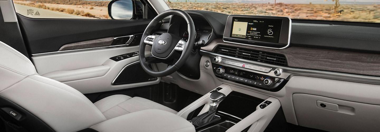 Picture of the interior of the new 2020 Kia Telluride.