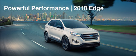 Exterior of the 2018 Ford Edge at Rusty Eck Ford in Port Richey, FL