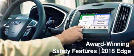Safety features and interior of the 2018 Edge - available at Ford of Port Richey