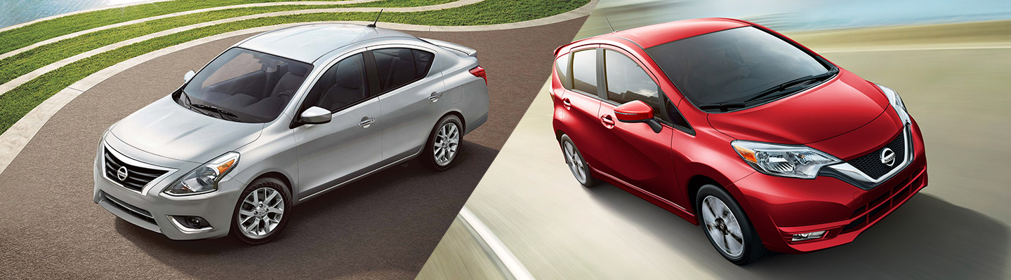 2019 Nissan Versa compared to the Nissan Versa Note available at our Nissan dealership in Oklahoma City, OK.