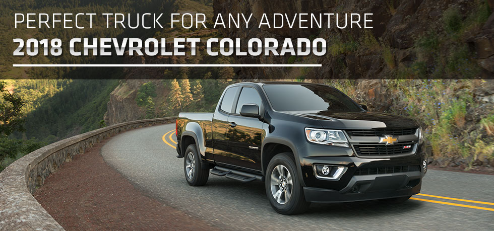 The 2018 Chevrolet Colorado is available at McClinton Chevrolet Mitsubishi in Parkersburg, West Virginia