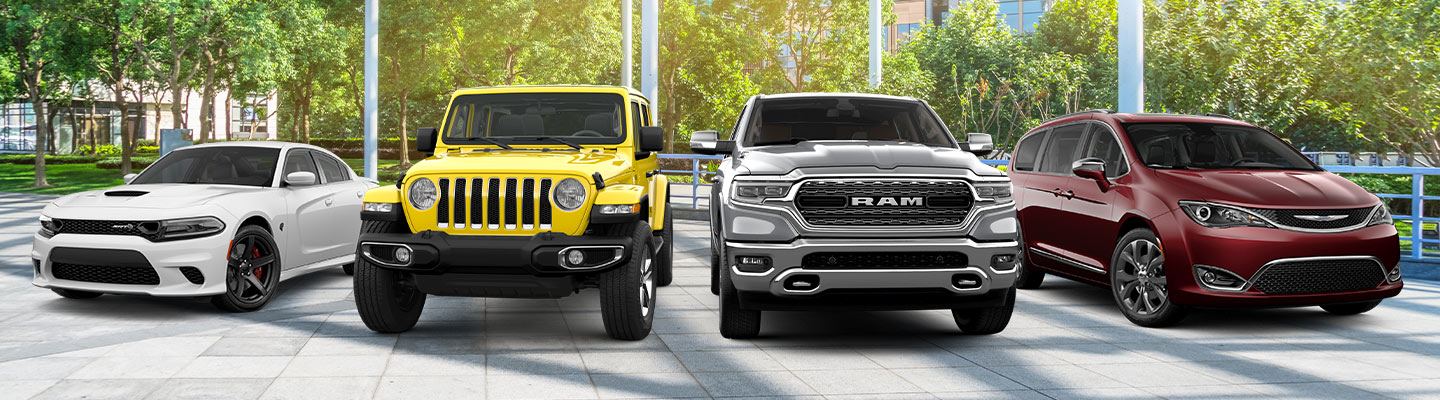 Chrysler Dodge Jeep RAM vehicle lineup available at Central Florida CDJR in Orlando, FL