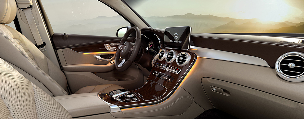 Safety features and interior of the Mercedes-Benz GLC - available at our Mercedes-Benz dealership near Augusta, GA.