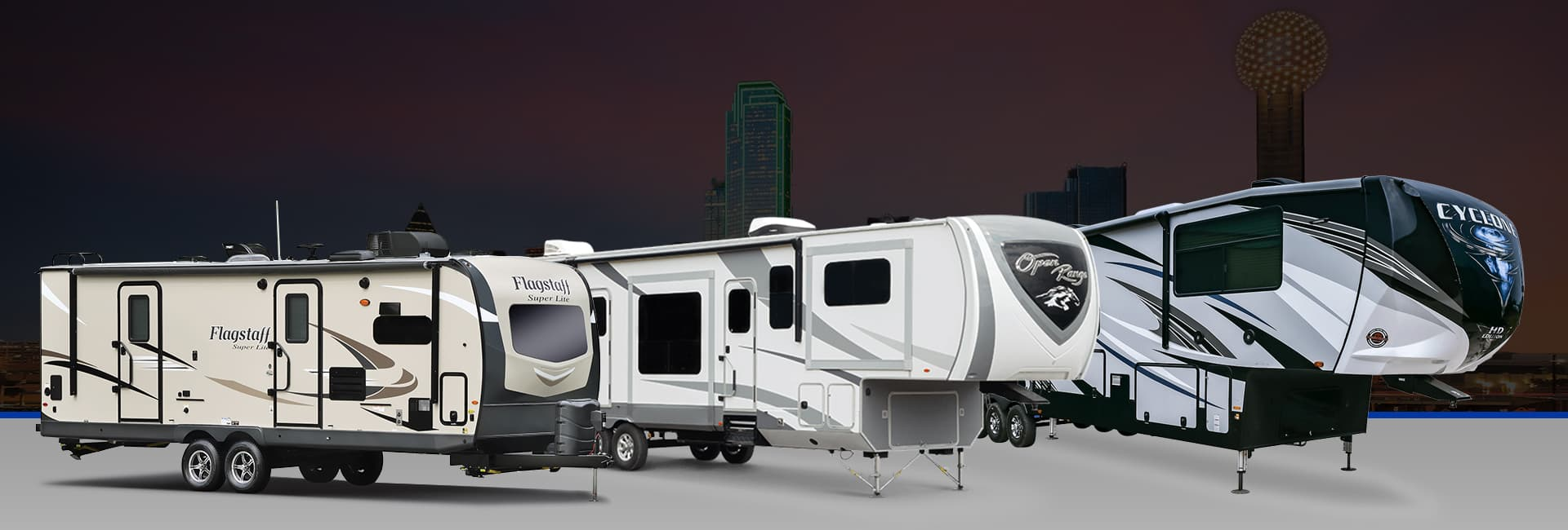 Grand Design Reflection, Grand Design Imagine XLS, and Jayco RVs
