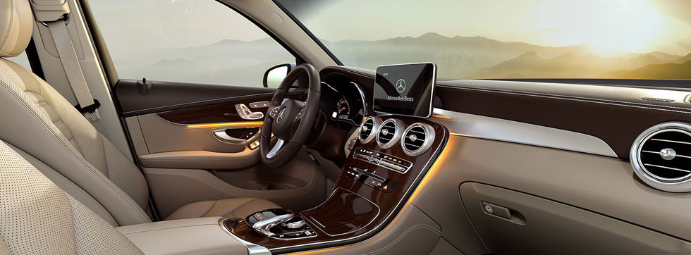 Safety features and interior of the 2019 Mercedes-Benz GLC - available at our Mercedes-Benz dealership near Evans, GA.