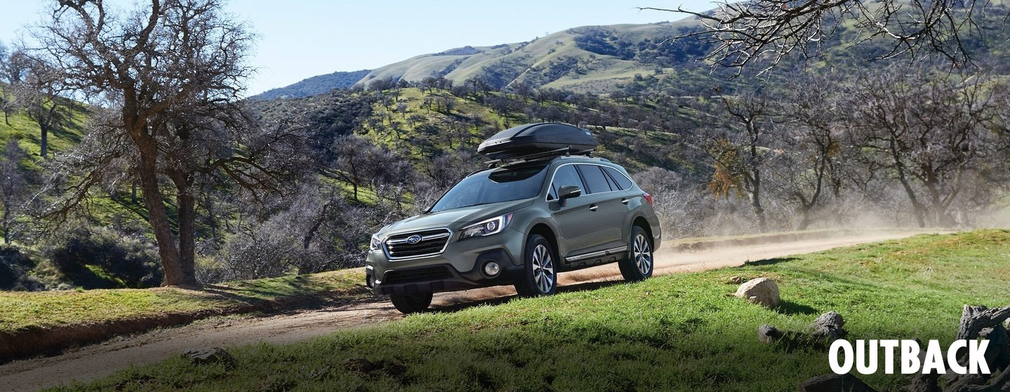 2019 Subaru Outback on the trail driving