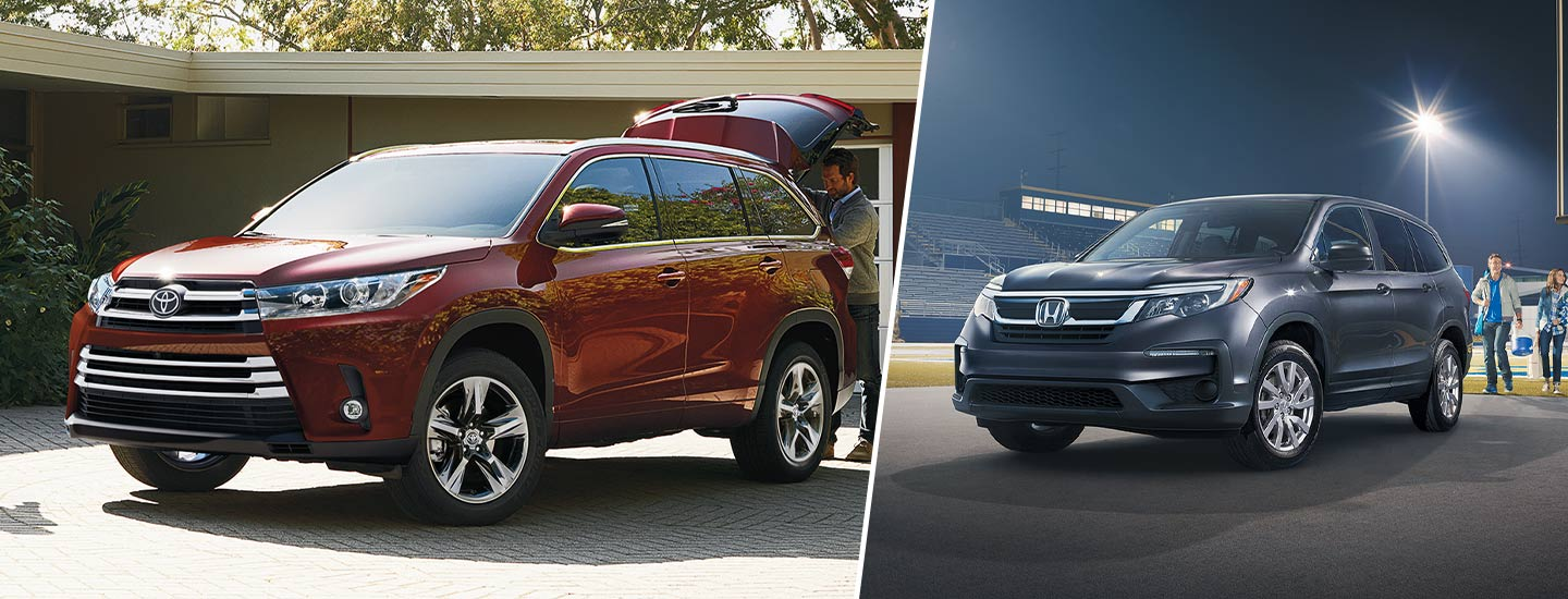 Compare the 2019 Toyota Highlander to the 2019 Honda Pilot at Rivertown Toyota in Columbus, GA.