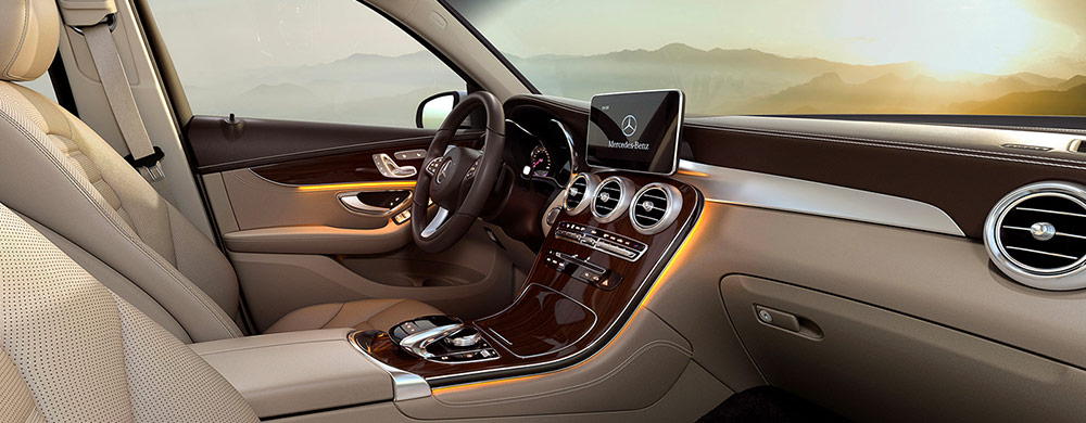 Safety features and interior of the 2019 Mercedes-Benz GLC - available at our Mercedes-Benz dealership in Augusta, GA.