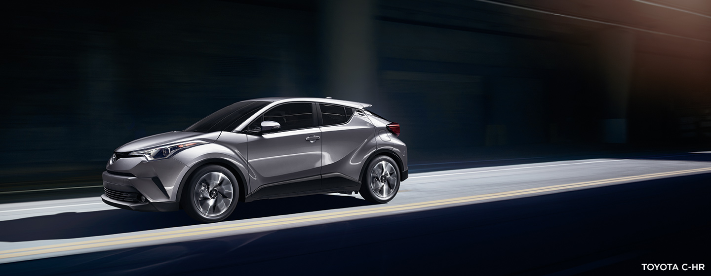 Exterior of the 2019 Toyota C-HR available at our Toyota dealership in Rock Hill, SC