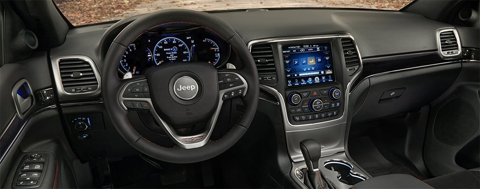 Safety features and interior of the 2019 Jeep Grand Cherokee - available at our Jeep dealership near Edmond.