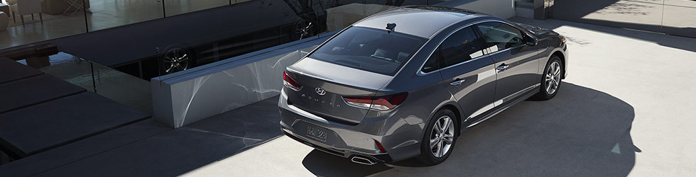 Exterior of the 2018 Hyundai Sonata at Springfield Hyundai near Philadelphia, PA