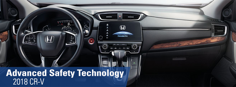 Safety features and interior of the 2018 Honda CR-V available at Honda of Fort Myers near Bonita Springs and Cape Coral FL