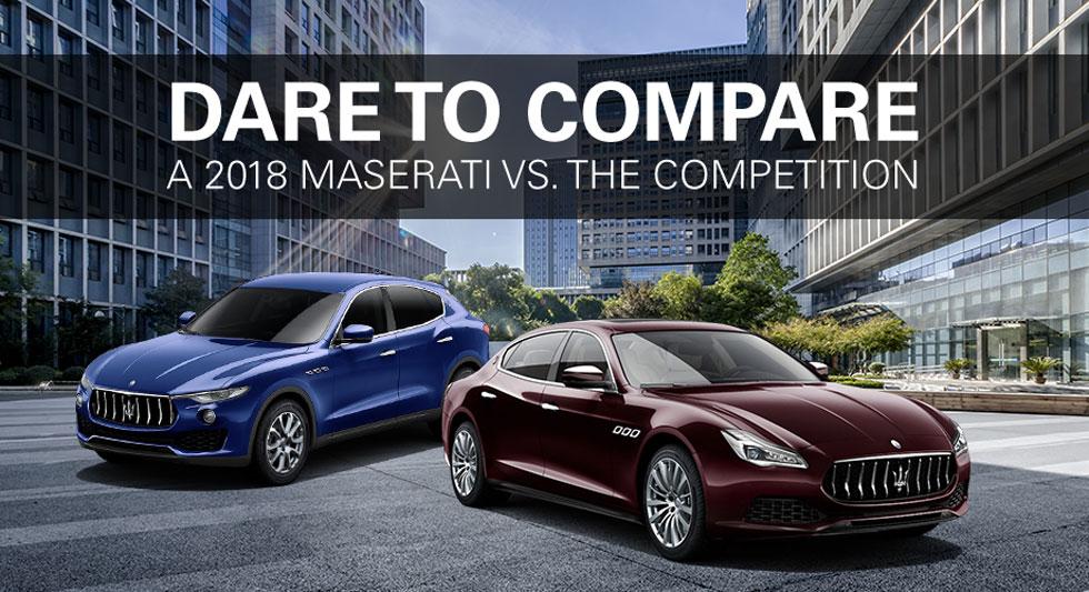 Maserati Beverly Hills and Van Nuys Maserati 2018 Levante Levante S Quattroporte vs 2018 Porsche Cayenne Cayenne S Panamera 2018 Range Rover Sport