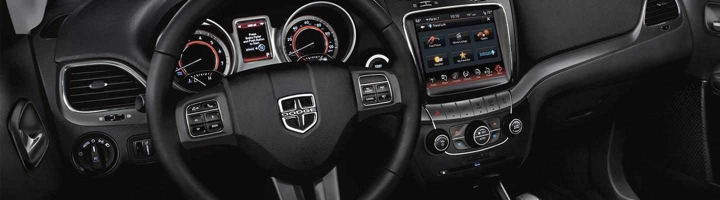 Interior view of the 2020 Dodge Journey