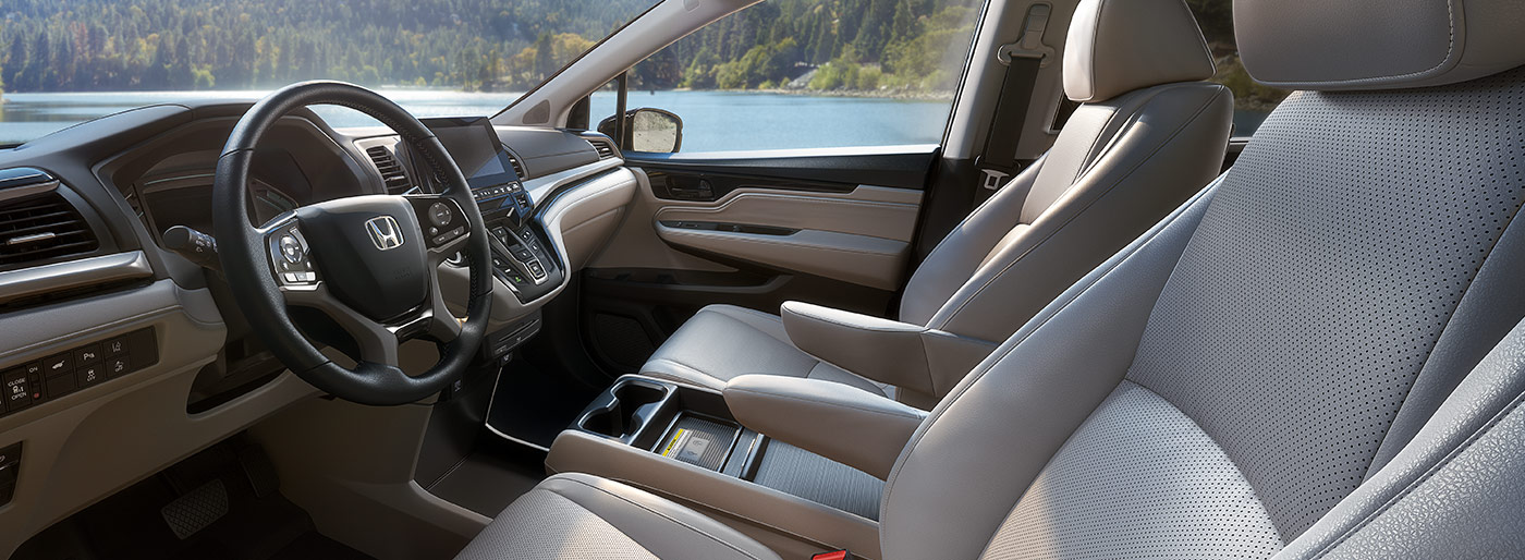 Safety features and interior of the 2019 Honda Odyssey - available at our Honda dealership near Fort Myers, FL.