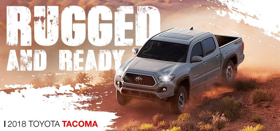 The 2018 Toyota Tacoma is available at Toyota of Tampa Bay near Brandon