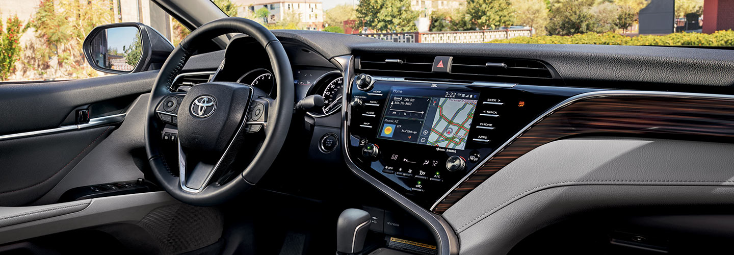 Interior and technology features of the 2019 Toyota Camry available at our Rock Hill car dealership