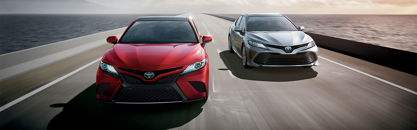 2019 Toyota Camry in motion in Rock Hill, SC