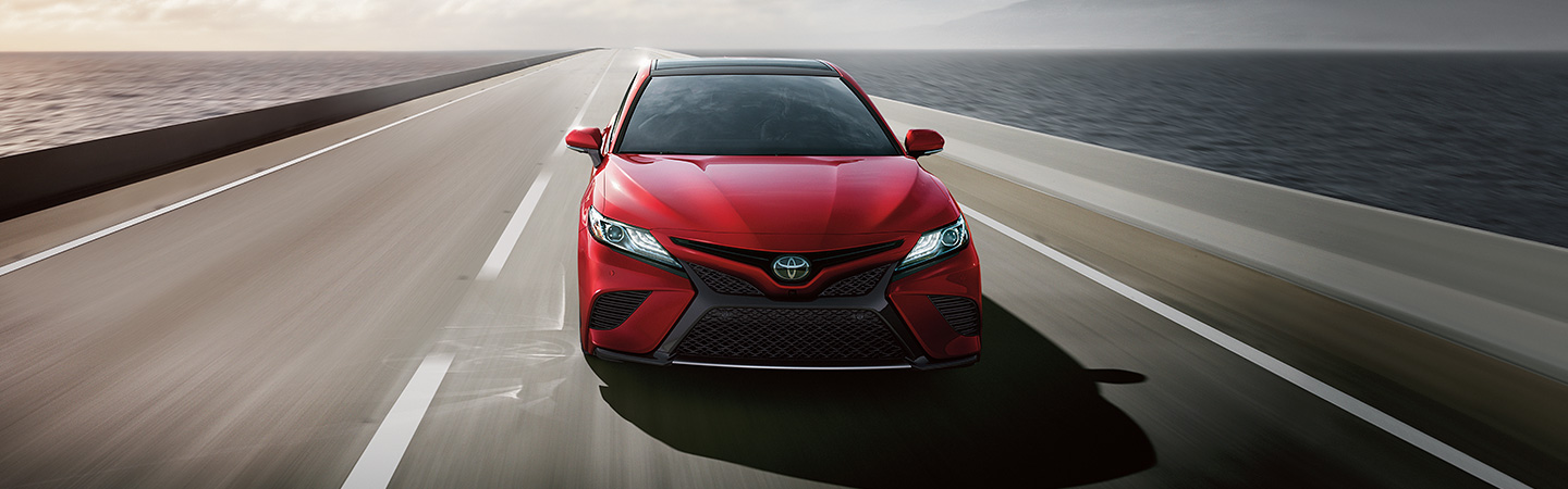 2019 Toyota Camry driving on the road