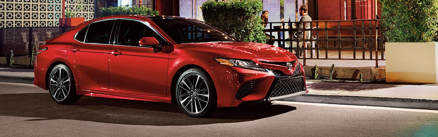 Exterior of the 2019 Toyota Camry available at our Toyota dealership in Rock Hill, SC
