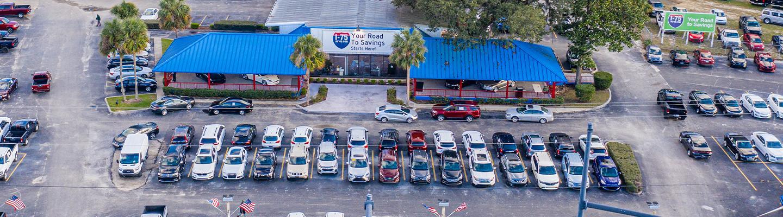 I-75 Autos aerial shot dealership