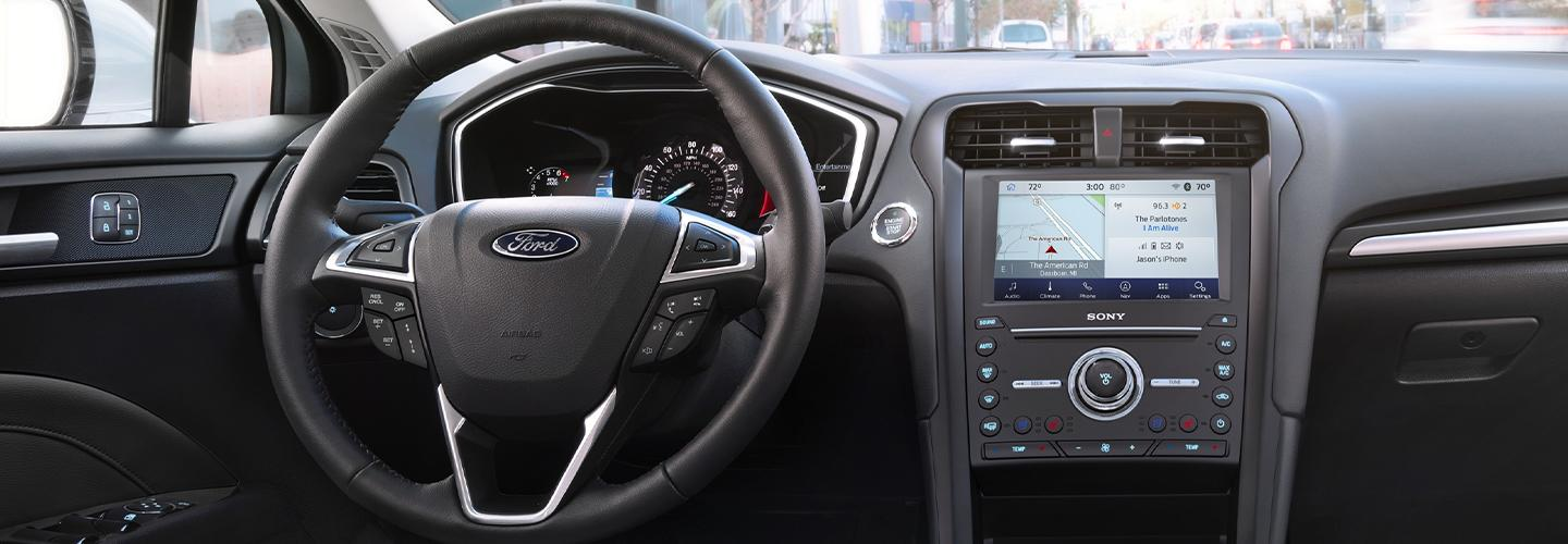 Interior of the 2020 Ford Fusion for sale at Marlow Ford in Luray Ohio